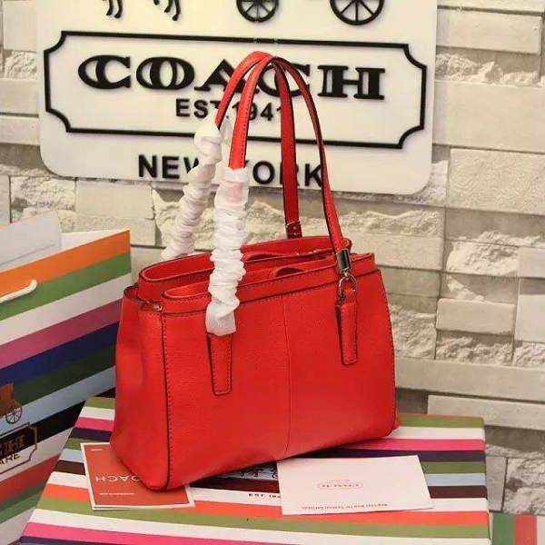 coach包 蔻馳2015年新款手提包 34797全皮包包 紅色